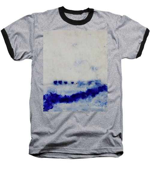 Baseball T-Shirt featuring the painting Hearts On A Wire by Kim Nelson