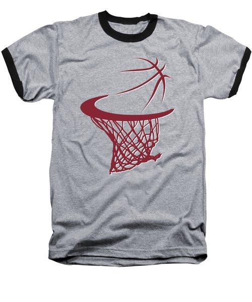Heat Basketball Hoop Baseball T-Shirt by Joe Hamilton