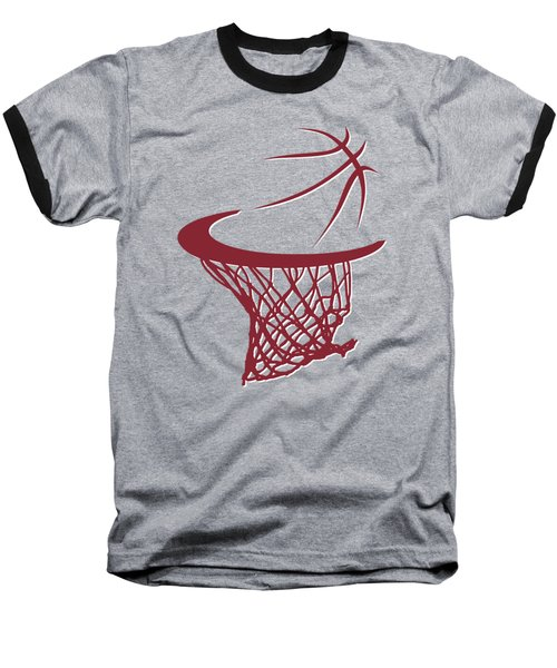 Heat Basketball Hoop Baseball T-Shirt