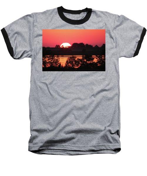 Heat Wave Sunrise Baseball T-Shirt