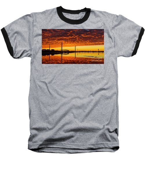 Swing Bridge Heat Baseball T-Shirt