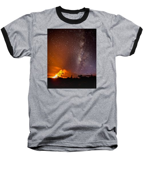 Heaven And Hell Baseball T-Shirt by Allen Biedrzycki