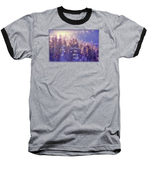 Baseball T-Shirt featuring the photograph Heaven And Nature by Kathy Bassett