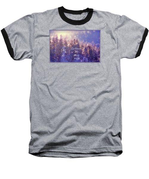 Heaven And Nature Baseball T-Shirt by Kathy Bassett