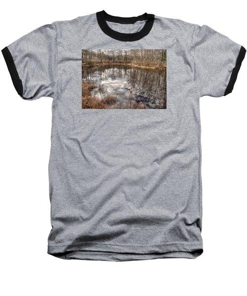 Heaven Below Baseball T-Shirt by Betsy Zimmerli