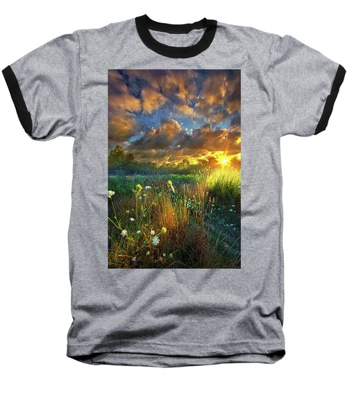Heaven Knows Baseball T-Shirt by Phil Koch
