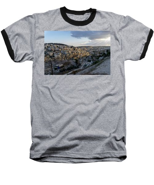 Heaven Shines On The City Of David Baseball T-Shirt