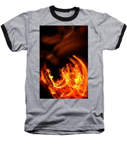 Heavenly Flame Baseball T-Shirt by Donna Blackhall