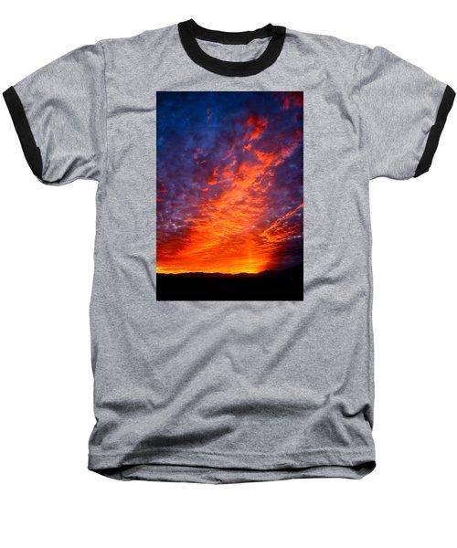 Heavenly Flames Baseball T-Shirt by Paul Marto