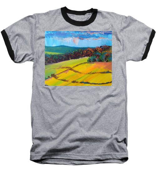 Heavenly Haldon Hills - Devon English Landscape Baseball T-Shirt
