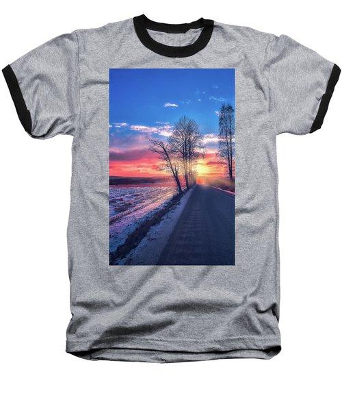 Heavenly Journey Baseball T-Shirt by Rose-Marie Karlsen