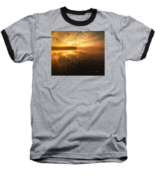 Baseball T-Shirt featuring the painting Heavenly Journey by Rose-Maries Pictures