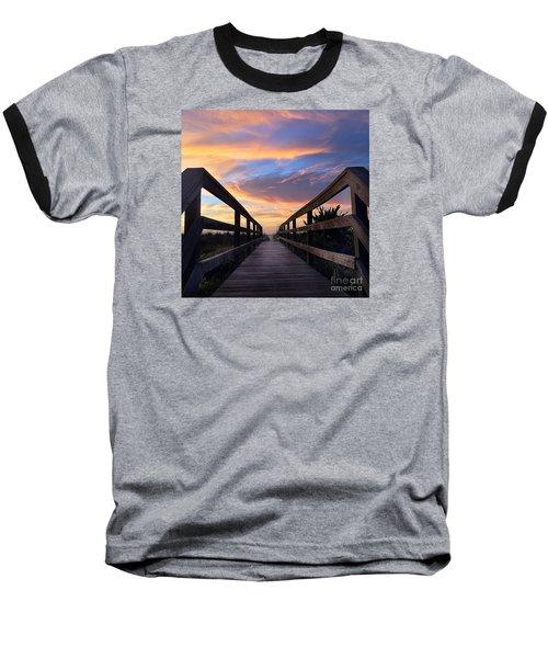Heavenly  Baseball T-Shirt by LeeAnn Kendall