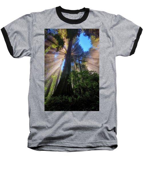 Heavenly Light Rays Baseball T-Shirt