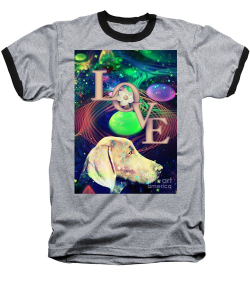 Baseball T-Shirt featuring the digital art Heavenly Love by Kathy Tarochione