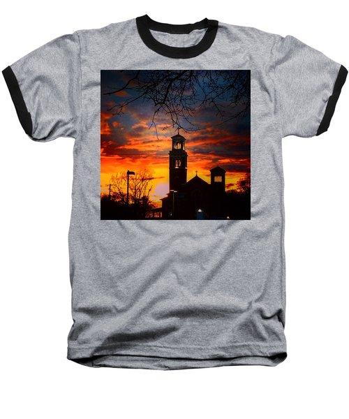 Heavenly Sunset Baseball T-Shirt