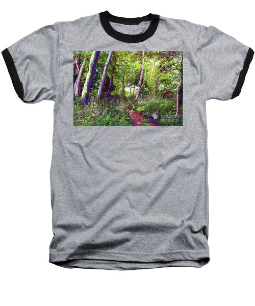 Heavenly Walk Among Birch And Aspen Baseball T-Shirt