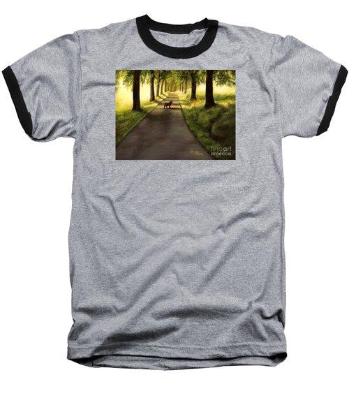 Serenity - Walk With Black Labrador Baseball T-Shirt