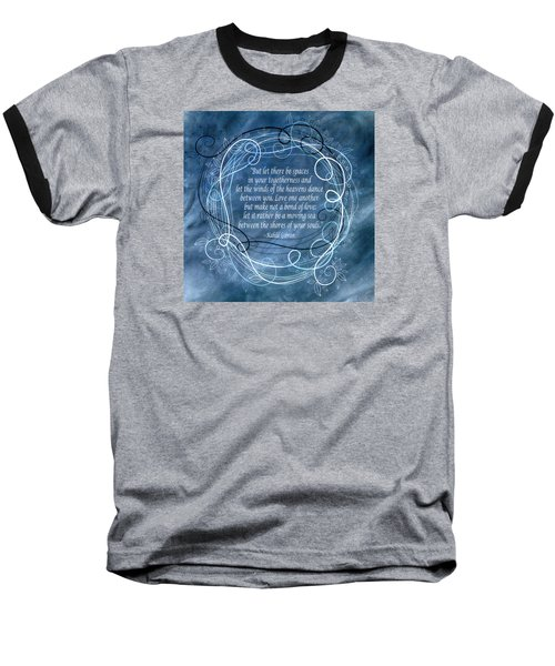 Baseball T-Shirt featuring the digital art Heavens Dance by Angelina Vick