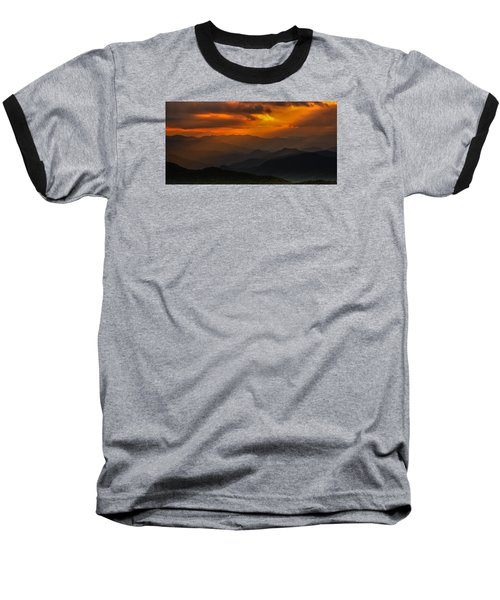 Heaven's Light On The Blue Ridge Parkway Baseball T-Shirt
