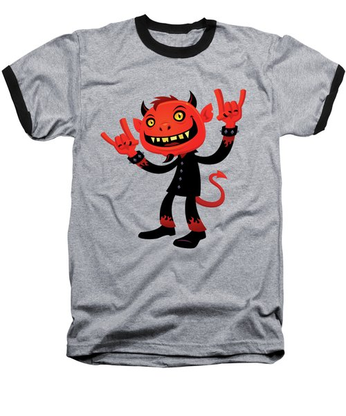 Heavy Metal Devil Baseball T-Shirt