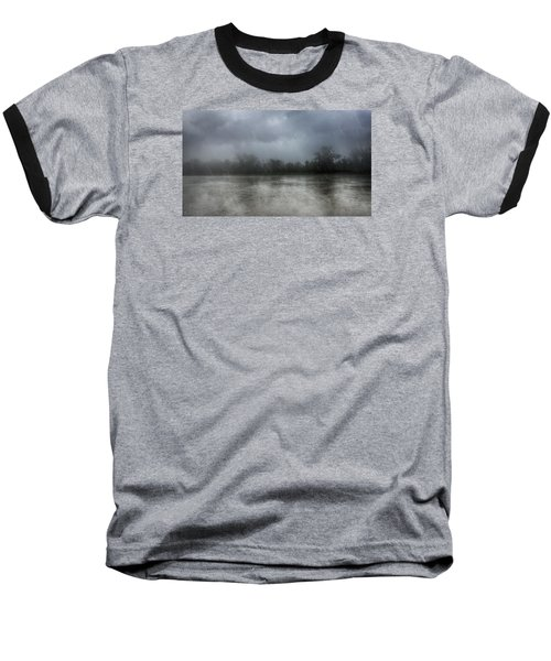 Heavy Rain Over A River Baseball T-Shirt