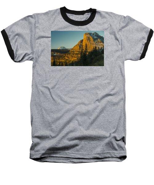 Heavy Runner Mountain Baseball T-Shirt