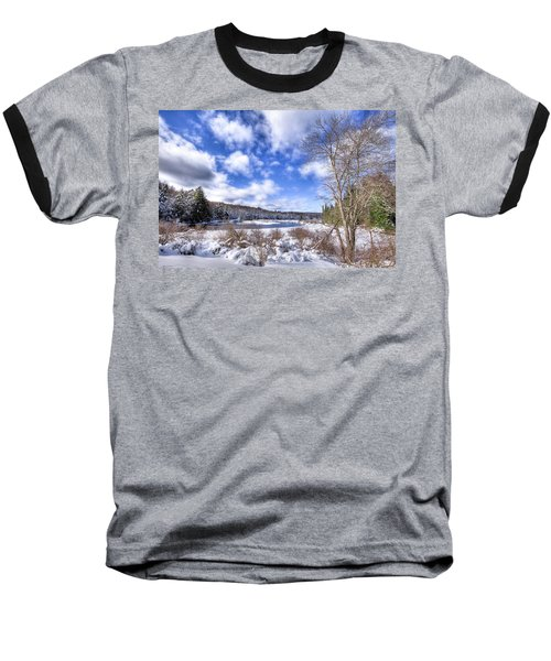 Baseball T-Shirt featuring the photograph Heavy Snow At The Green Bridge by David Patterson