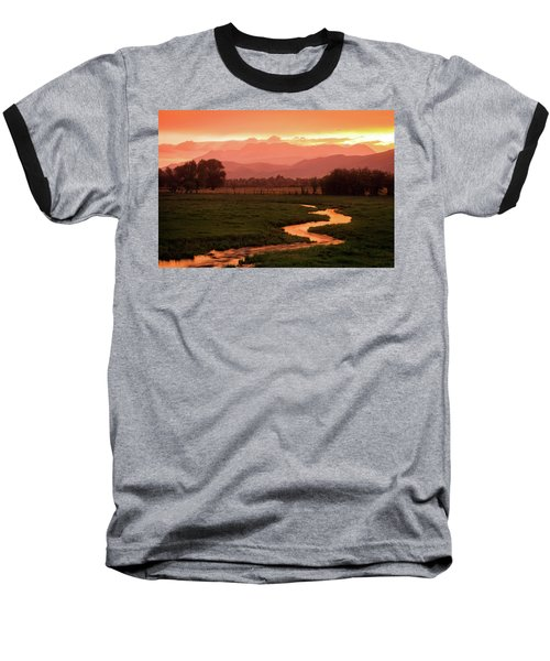 Heber Valley Golden Sunset Baseball T-Shirt