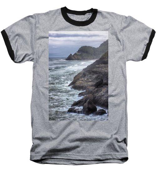 Heceta Head Light - Color Baseball T-Shirt