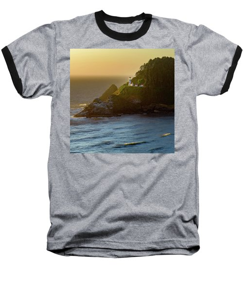 Heceta Head Lighthouse At Sunset Baseball T-Shirt