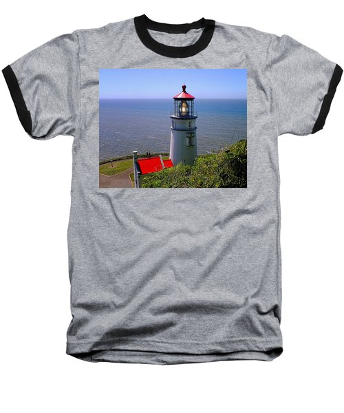 Heceta Head Lighthouse Baseball T-Shirt