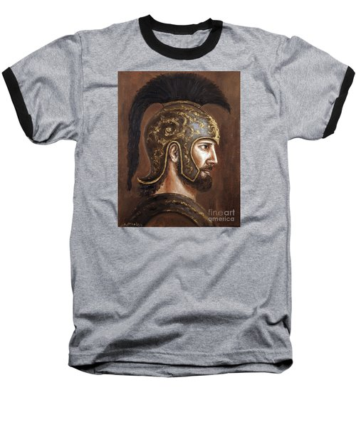 Baseball T-Shirt featuring the painting Hector by Arturas Slapsys