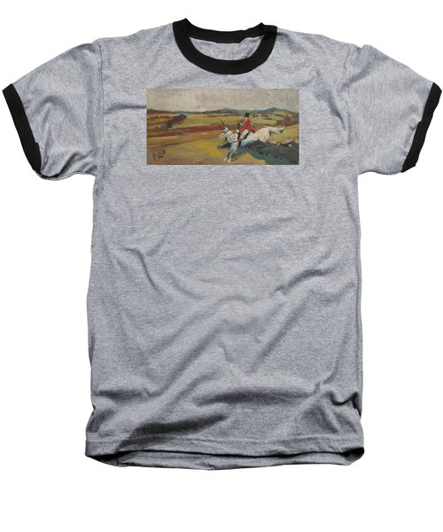 Baseball T-Shirt featuring the painting Hedge Hopping Britain by Nop Briex