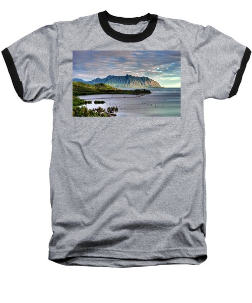He'eia Fish Pond And Kualoa Baseball T-Shirt