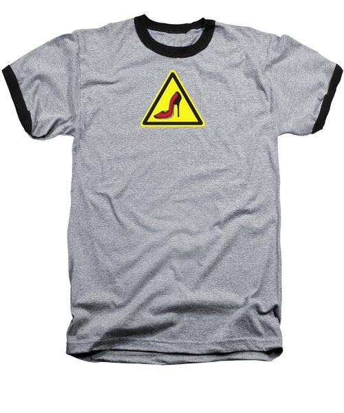 Heels Hazard Baseball T-Shirt