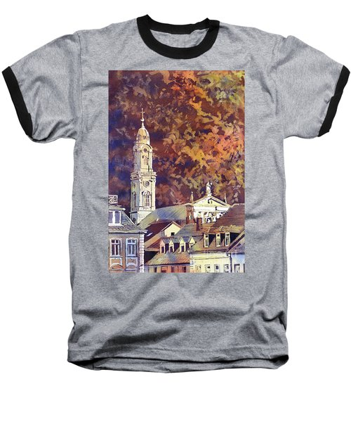 Baseball T-Shirt featuring the painting Heidelberg Evening by Ryan Fox