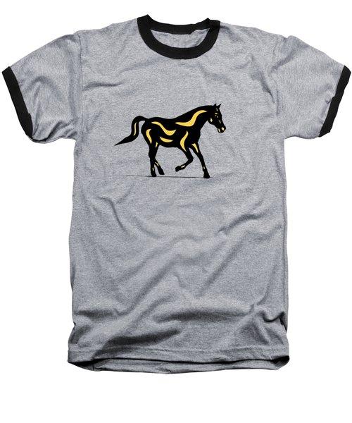 Heinrich - Pop Art Horse - Black, Primrose Yellow, Hazelnut Baseball T-Shirt