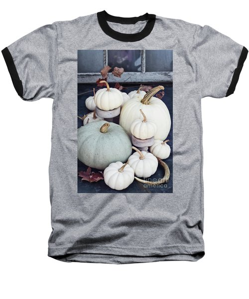 Heirloom Pumpkins And Antlers Baseball T-Shirt