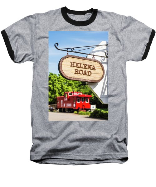 Baseball T-Shirt featuring the photograph Helena Road Sign by Parker Cunningham