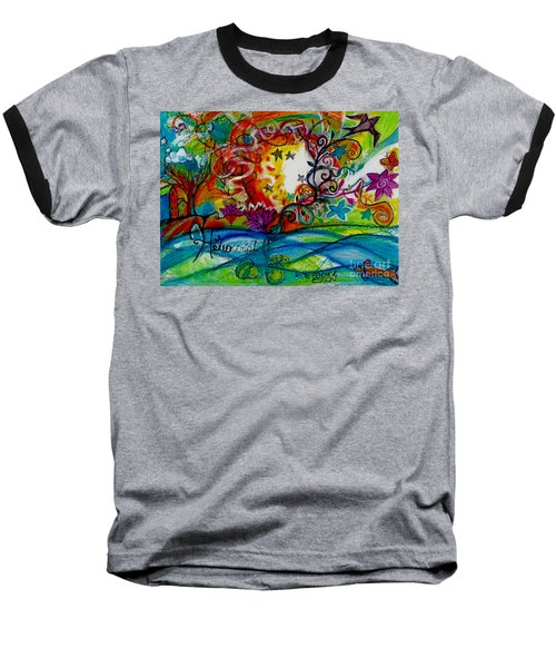 Baseball T-Shirt featuring the painting Helios And Ophelia  by Genevieve Esson