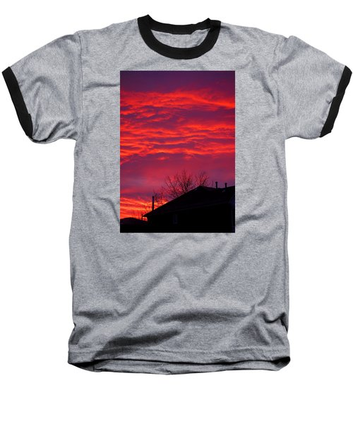 Baseball T-Shirt featuring the photograph Hell Over Ontario by Valentino Visentini
