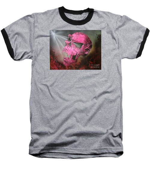 Baseball T-Shirt featuring the painting Hell by Tbone Oliver