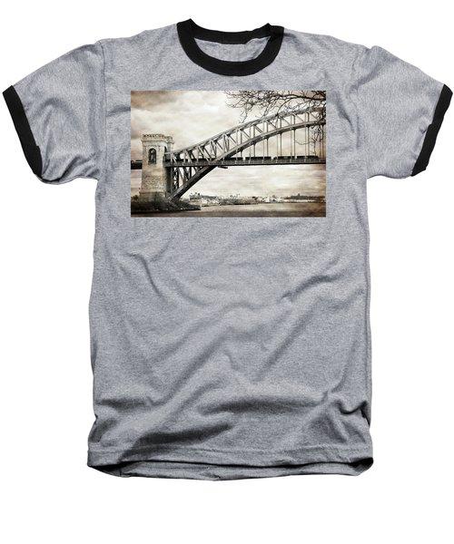 Hellgate Bridge In Sepia Baseball T-Shirt