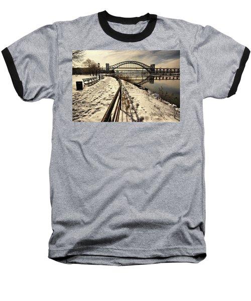 Hellgate Bridge In Winter Baseball T-Shirt