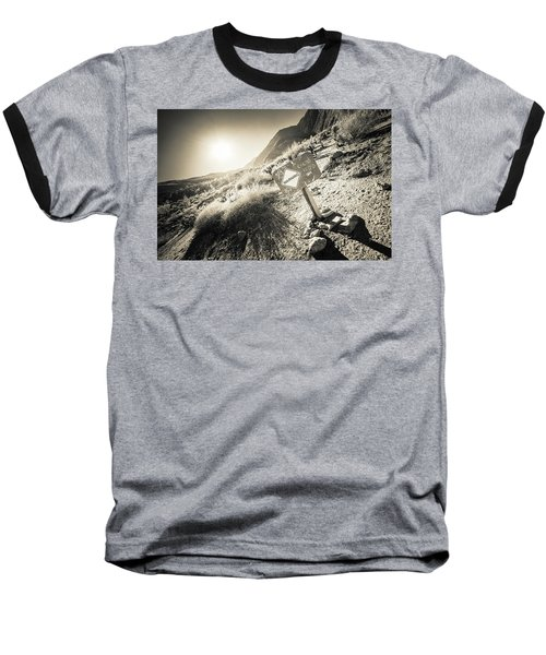 Hellhole Canyon Warning Baseball T-Shirt