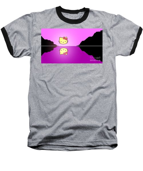 Hello Kitty Sunrise Baseball T-Shirt by George Pedro