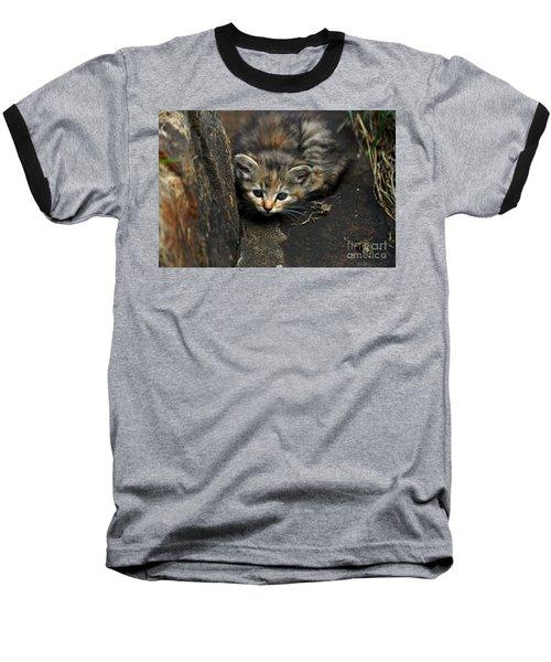 Hello Little Kitty Baseball T-Shirt