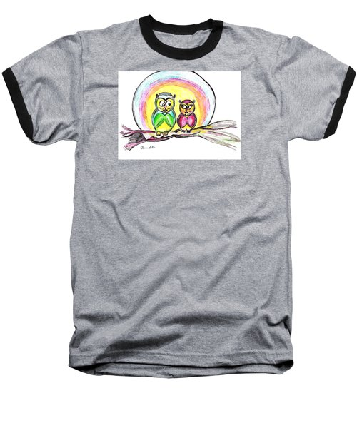 Hello Moonlight  Baseball T-Shirt by Ramona Matei