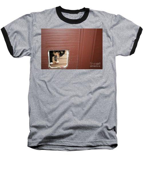 Curly Peeking Baseball T-Shirt